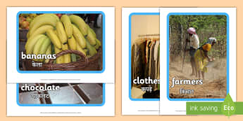 Fairtrade Display Photos English/Hindi - Fairtrade Display Photos - fairtrade, photos, photograph, display, EAL.