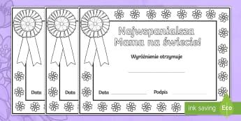 Certyfikaty do kolorowania Dzień Matki - mama, matka, mamy, dla, dzień, matki, maj, maja, 26, 26.05, majowe, wiosna, kwiaty, certyfikay, cer