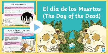 Mexican day of the Dead Information PowerPoint - Mexican, info