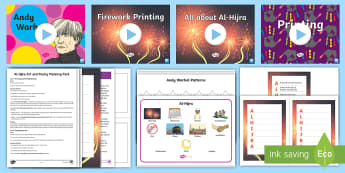 KS1 Al-Hijra Art and Poetry Greetings Card Lesson Pack - Al-Hijrah, Islam, Festival and Celebrations, Islamic New Year, Muslim New Year.