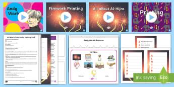 KS1 Al-Hijra Art and Poetry Greetings Card Lesson Pack - Al-Hijrah, Islam, Festival and Celebrations, Islamic New Year, Muslim New Year.