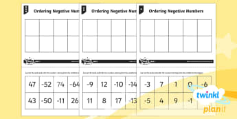 PlanIt Y5 Number and Place Value Home Learning Tasks - Number and Place Value, negative, order, compare, digit, Interpret Negative Numbers in Context, Coun