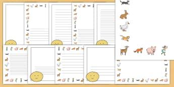 The Runaway Pancake Story Page Border Pack - pancake, pan cake, day, borders, story, writing