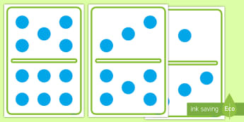 A4 Domino Set - Counting, foundation stage numeracy, numeracy, digit card, number recognition, counting, domino, dominoes, domino set