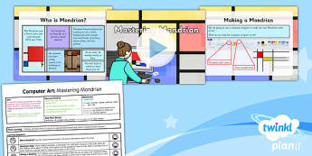 Computing: Computer Art: Mastering Mondrian Year 2 Lesson Pack 2