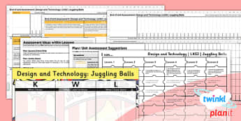 PlanIt - Design and Technology LKS2 - Juggling Balls Unit Assessment Pack - planit, assessment, pack