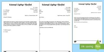 Samplau Llythyr Ffurfiol Cymorth  - llythyr ffurfiol, formal letter, templed, samplau, template,Welsh