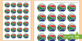 I Am Proud to be South African Stickers - south african, stickers, flag, proudly south african, heritage day