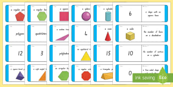 Shape Loop Cards - Shapes, Geometry, Maths, nz, new zealand moving