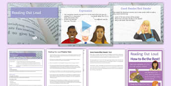Reading Out Loud Lesson Pack - reading, loud, drama, performance, voice