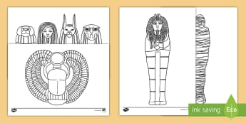 Egyptian Colouring Pages - Multiplying Two-Digit Numbers by One-Digit Numbers Using the Distributive Law - partition, multiplic