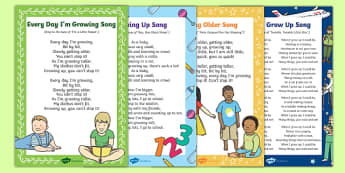 Growing Up Songs and Rhymes Resource Pack