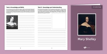 Mary Shelley Author Study Activity Sheet, worksheet