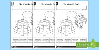 PlanIt Y4 Number and Place Value The Wizard's Cloak Home Learning Tasks - decimal number, recognising, thousands, hundreds, tens, ones, tenths, hundredths, identify place val