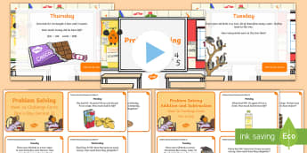 Week 16 - Problem Solving - One a Day - Resource Pack - Word Problems, Addition, Subtraction, Challenge, Solving, RUDE,Irish