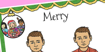 A4 British Sign Language Sign for Merry - sign language, merry