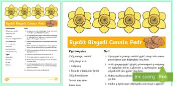 Daffodil Biscuits Recipe Welsh - welsh, cymraeg, spring, daffodil, flowers, biscuits recipe, biscuits, recipe