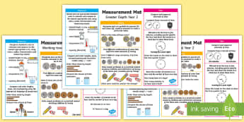 Year 2 Measurement Differentiated Maths Mats - KS1 Maths, Year 1, Y1, measurement, expectations, greater depth, working towards, expected level, st