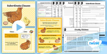 PlanIt Y5 Language Conventions: Subordinate Clauses Lesson Pack - Language Conventions, year 5, naplan, literacy, creating texts, language features, clauses, subordin
