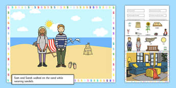 Silly S Sentences Cut and Stick Pictures - silly s, sentence, cut and stick, pictures