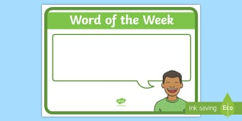 Word of the Week Display Poster - New Zealand Class Management, basic words, word of the week