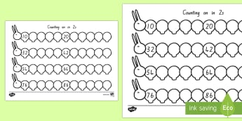 Counting On (in 2s) Caterpillar Activity Sheet - New Zealand, maths, caterpillar, skip counting, Years 1-3