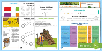 Marvellous Maths - A Week Outdoors Activity Pack - maths week, Outdoor learning, numeracy, counting, government initiative ,Scottish