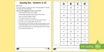 Squashy Boxes Numbers to 20 Craft - squashy box, squashy boxes, squashy, box, boxes, numbers, number, numbers to 20, craft, activity, maths, mathematics