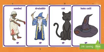 Halloween Costume Shop Role-Play Posters - oíche shamhna, ról imirt, siopa, culaith, éide,Irish