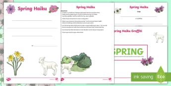 Spring Haiku Poem Writing Resource Pack - Spring, haiku, poem, poetry, nature, language,