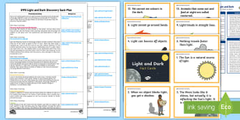 EYFS Light and Dark Discovery Sack Plan and Resource Pack - EYFS, light, dark, science