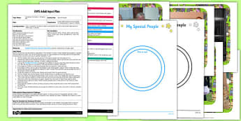 Special People EYFS Adult Input Plan and Resource Pack - special, people