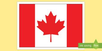 Canadian Flag Display Poster - Uniquely Canadian, Canadian Flag, grade 1, grade 2, grade 3, grade 4, grade 5, grade 6, kindergarten
