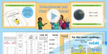 PlanIt Y4 Term 2A W1: Homophones and Near Homophones Spelling Pack - Spellings Year 4, Year 4, Y4, statutory, spelling, SPaG, GPS, lists, weekly, test, homophones, near