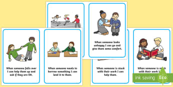 How to Be a Good Friend Cards - how to be a good friend, friendship, friends, cards, flashcards, good, behaviour, friend, relationship