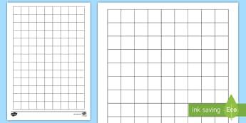 2cm Squared Editable Paper Activity Sheet - paper, square, squared, grid, dT, maths, worksheet,