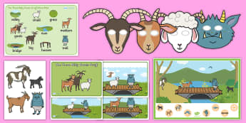 The Three Billy Goats Gruff Listen and Retell Oral Language Activity Pack - communicating, speaking, understanding, exploring, using, new language curriculum,Irish