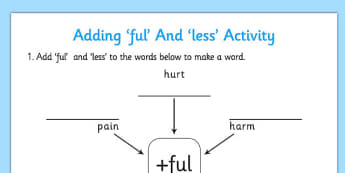 Adding ful and less Activity - adding, ful, less, activity, add
