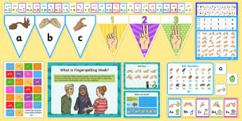 British Sign Language Fingerspelling Resource Pack  - Resource Pack, Fingerspelling, BSL, British Sign Language, national events, National Fingerspelling