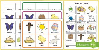 Easter Bingo Gaeilge - Easter, Spring, an Cháisc, earrach, Irish, Gaeilge, bingo, vocabulary, cluiche,Irish
