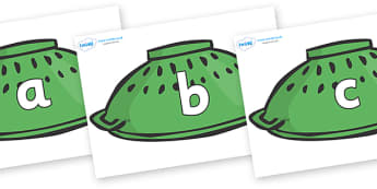 Phase 2 Phonemes on Colanders - Phonemes, phoneme, Phase 2, Phase two, Foundation, Literacy, Letters and Sounds, DfES, display