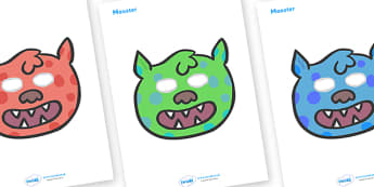 Monster Role Play Masks - role play mask, role play, monster, friendly monster, fantasy