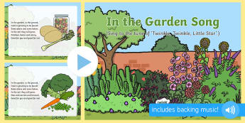In the Garden Song PowerPoint
