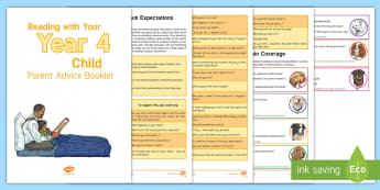 Year 4 Reading with Your Child Parent Advice Booklet - Y4, LKS2, home readers, parent support, guidance, expectations, national curriculum