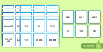Sequences Number Cards