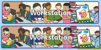 Workstation Display Banner -  Display, Banner, Work, Area, Classroom, Space