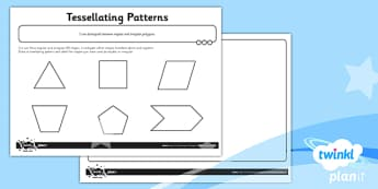 PlanIt Y5 Properties of Shapes Tessellating Patterns Home Learning - Properties of Shapes, regular, irregular, 2D shapes, geometric shapes, shape reasoning