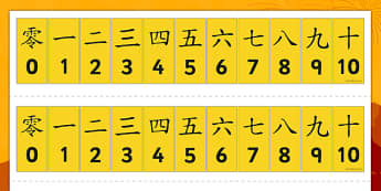 Chinese Number Tracks - chinese number tracks, chinese, china, mandarin, nubmers, numeracy, Maths, Math, number track, numbertrack, Counting, Numberline, Number line, Counting on, Counting back