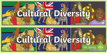 Cultural Diversity Display Banner - ACHASSK140, Year 6, AC, Geography, title, header, wall ,Australia