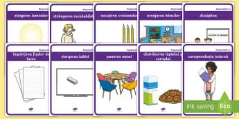Responsabilitățile elevilor  Planșe-Romanian - Responsabilitățile elevilor  Planșe,Romanian